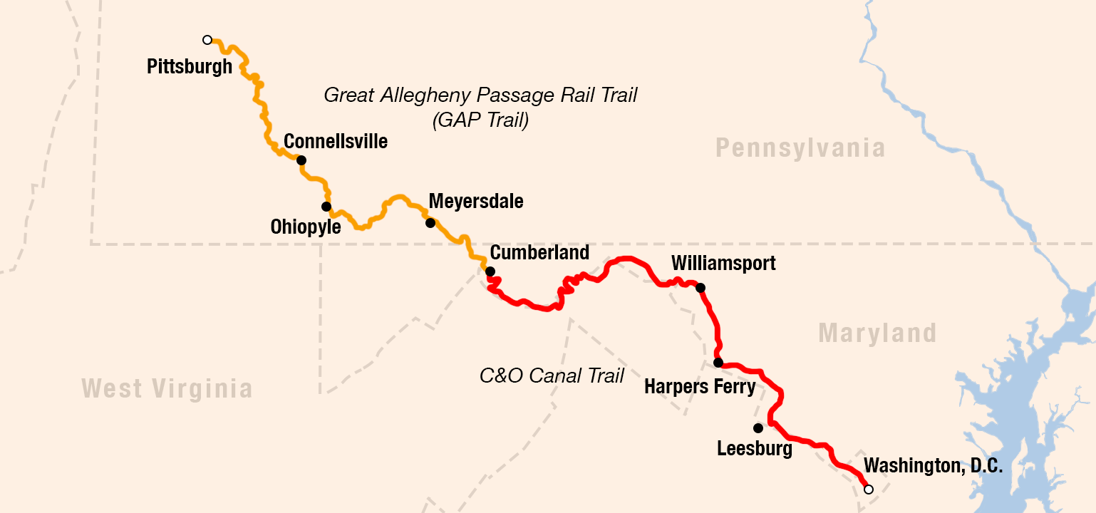 Picture of Great Allegheny Passage / Chesapeake & Ohio Bike Tour