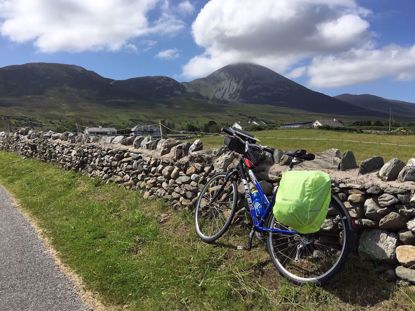 Croagh Patrick and bicycle