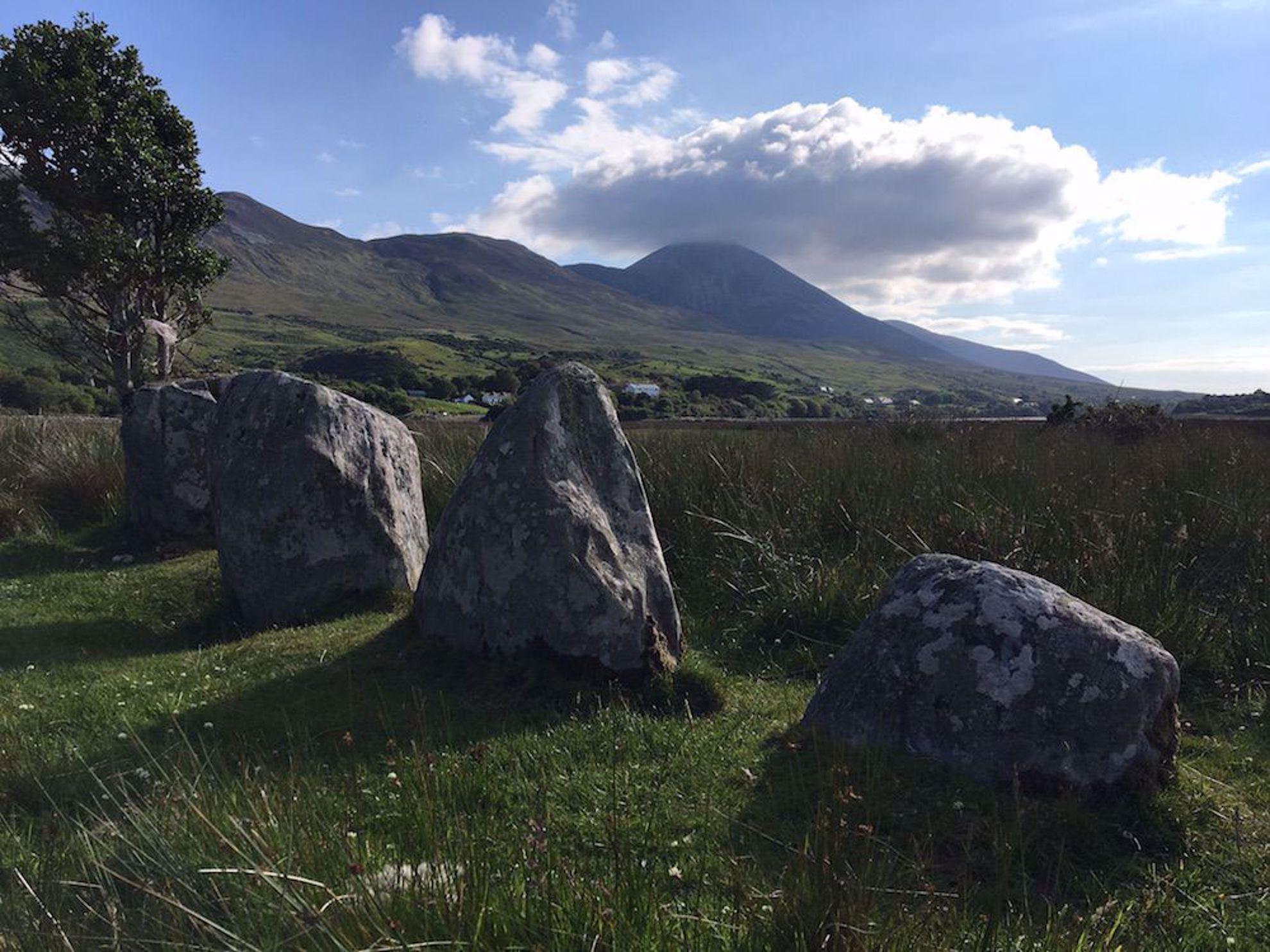 Croagh Patrick with rocks
