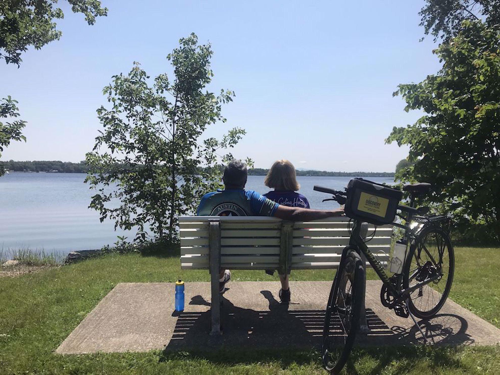 Bench Lake Champlain