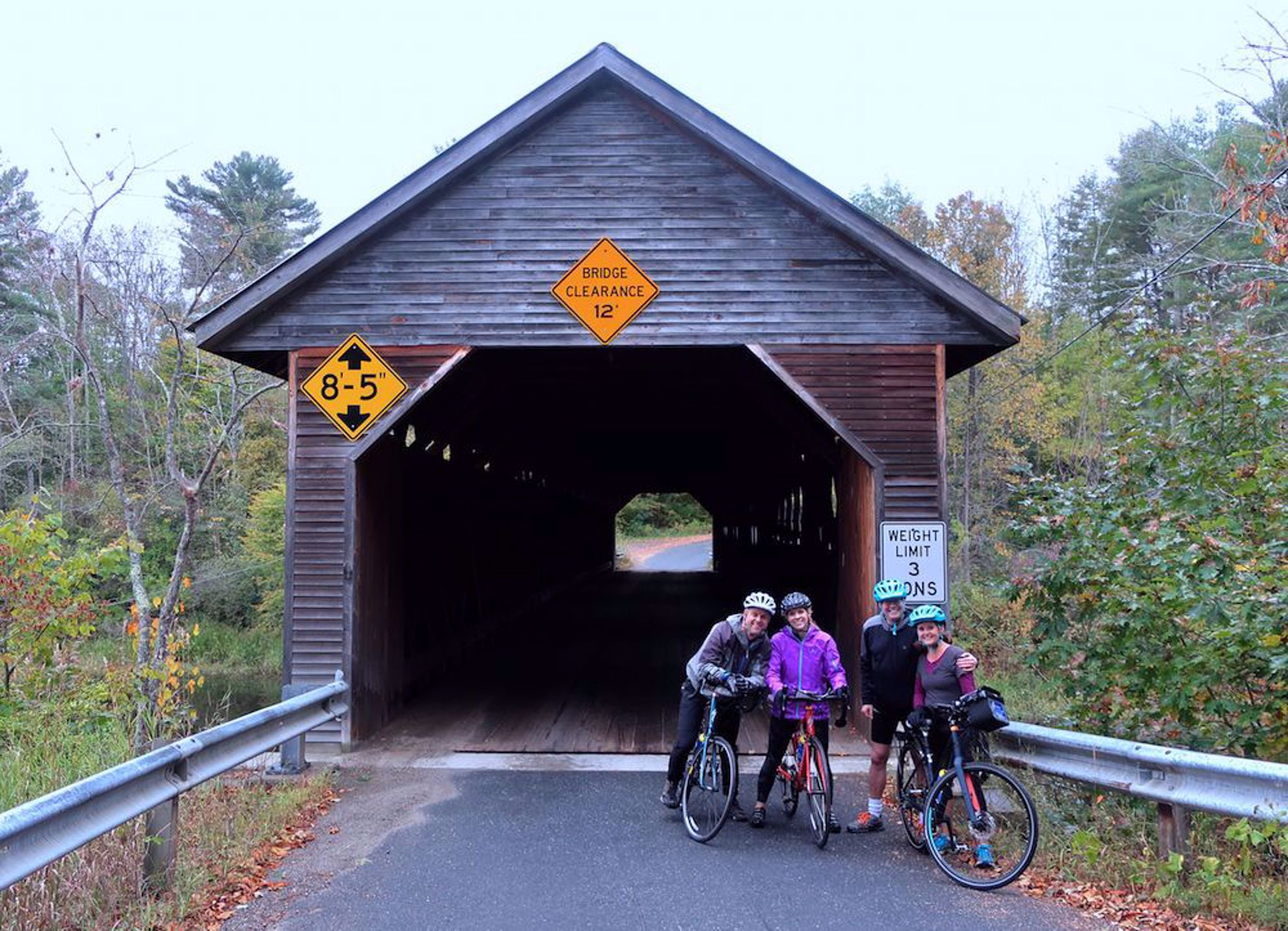 Covered bridge with guests