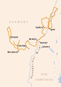 Woodstock upper valley map