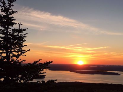 Maine sunrise Bar Harbor