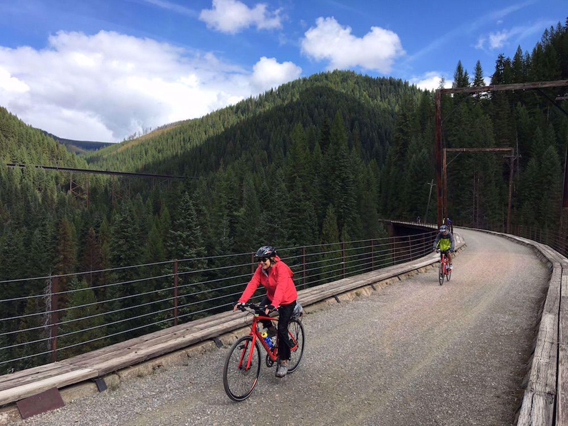 Riding the railroad trestles