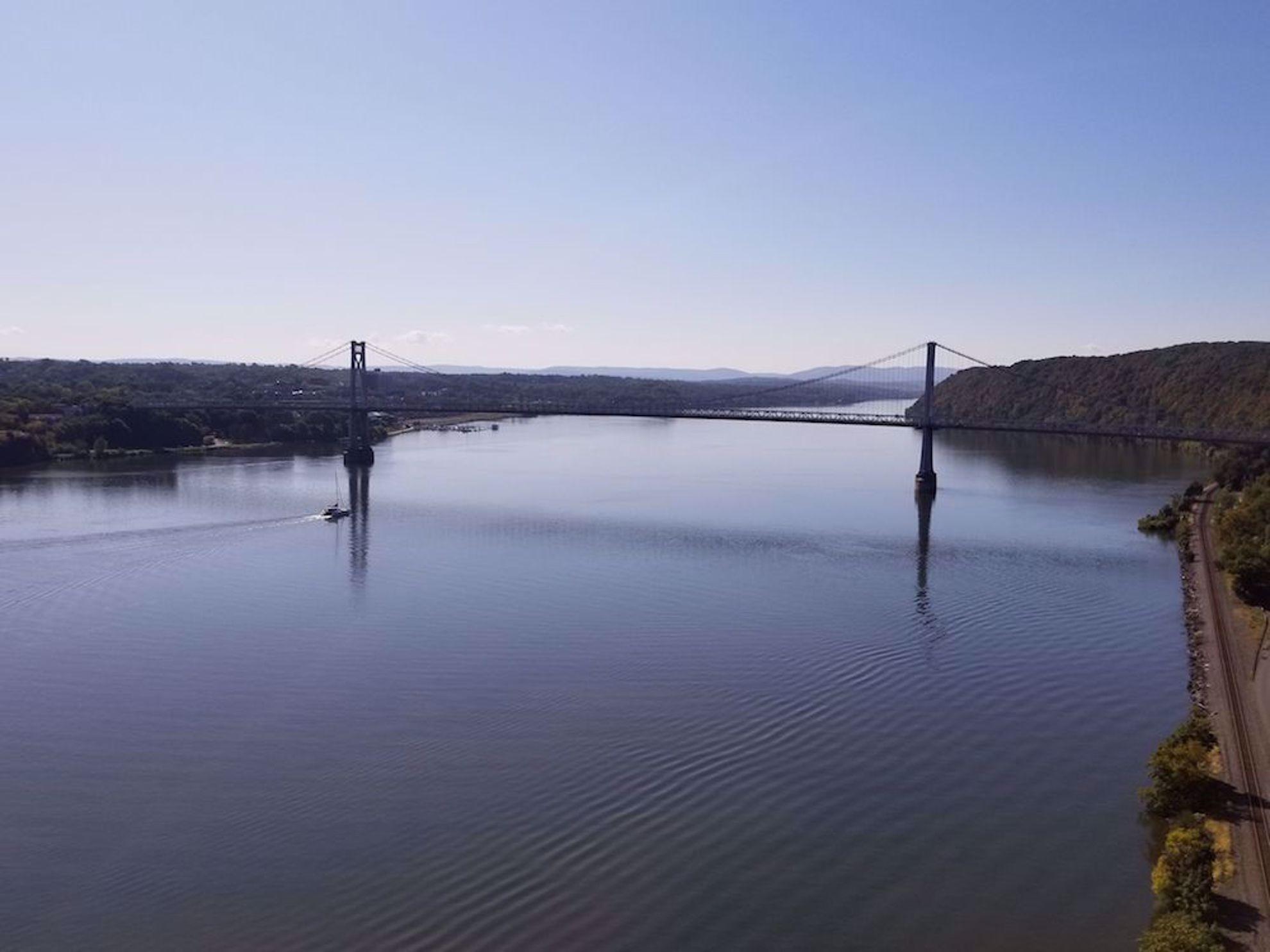Hudson River from pedestrian and bike bridge