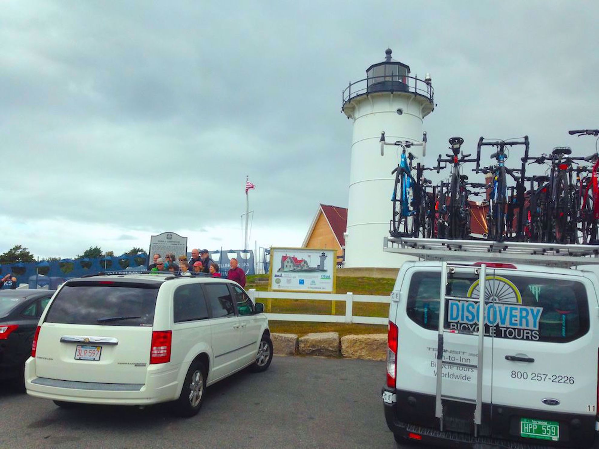 Van and lighthouse