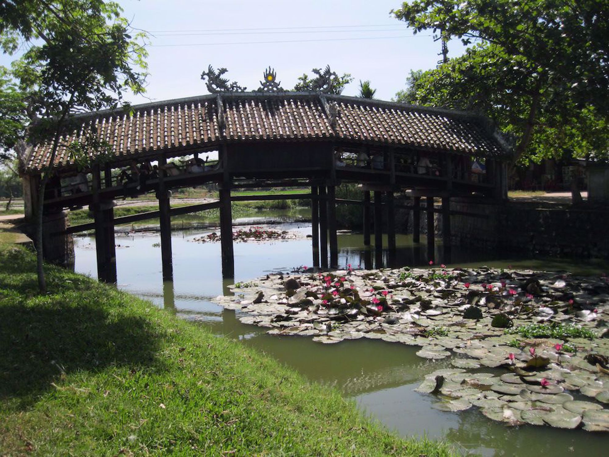 Hue bridge at Thanh Toan Vietnam
