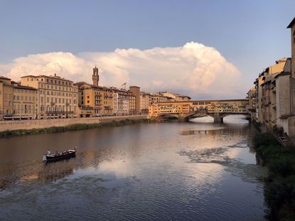 Florence Ponte Vecchio and river