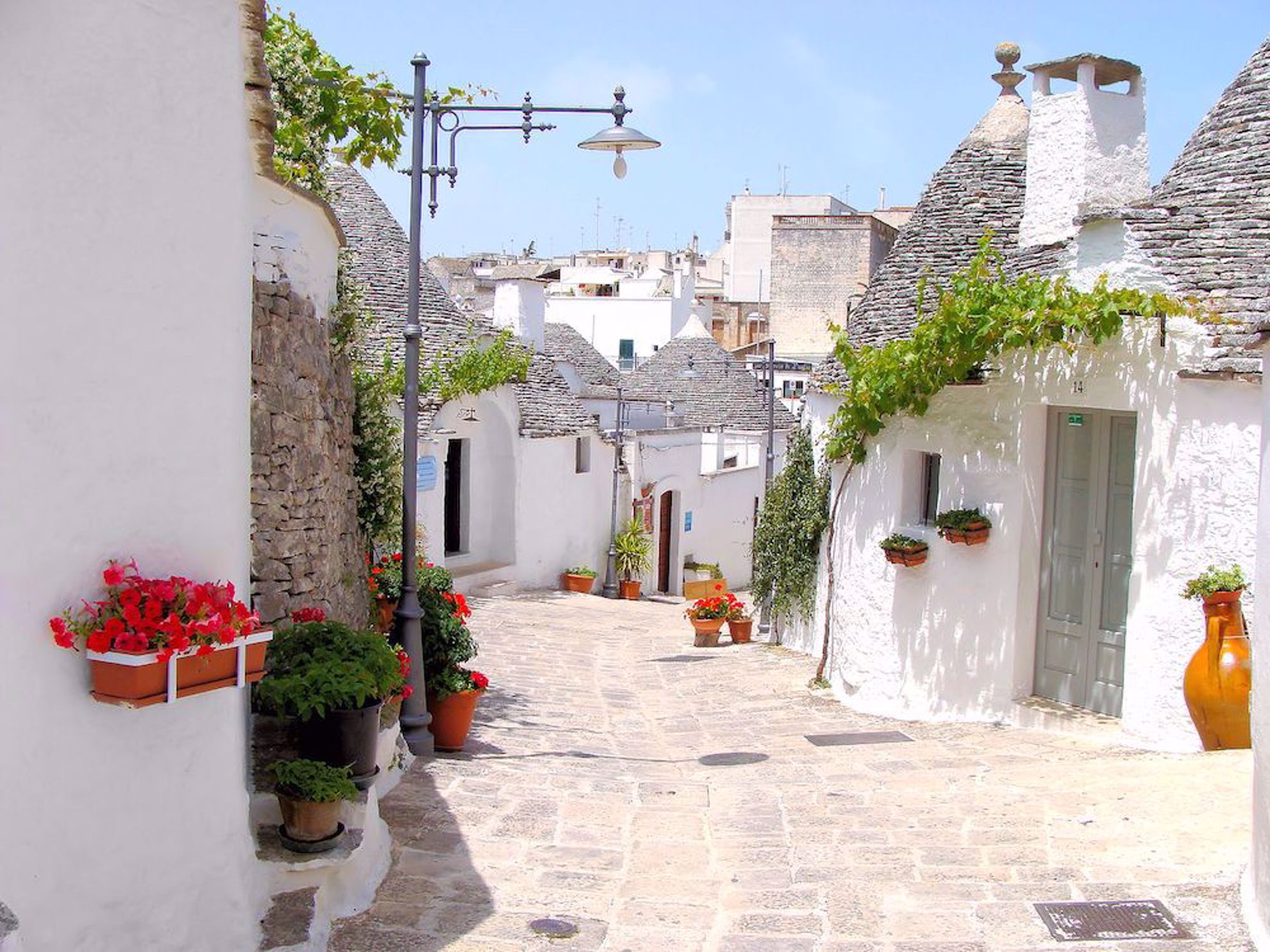 Puglia with trulli homes