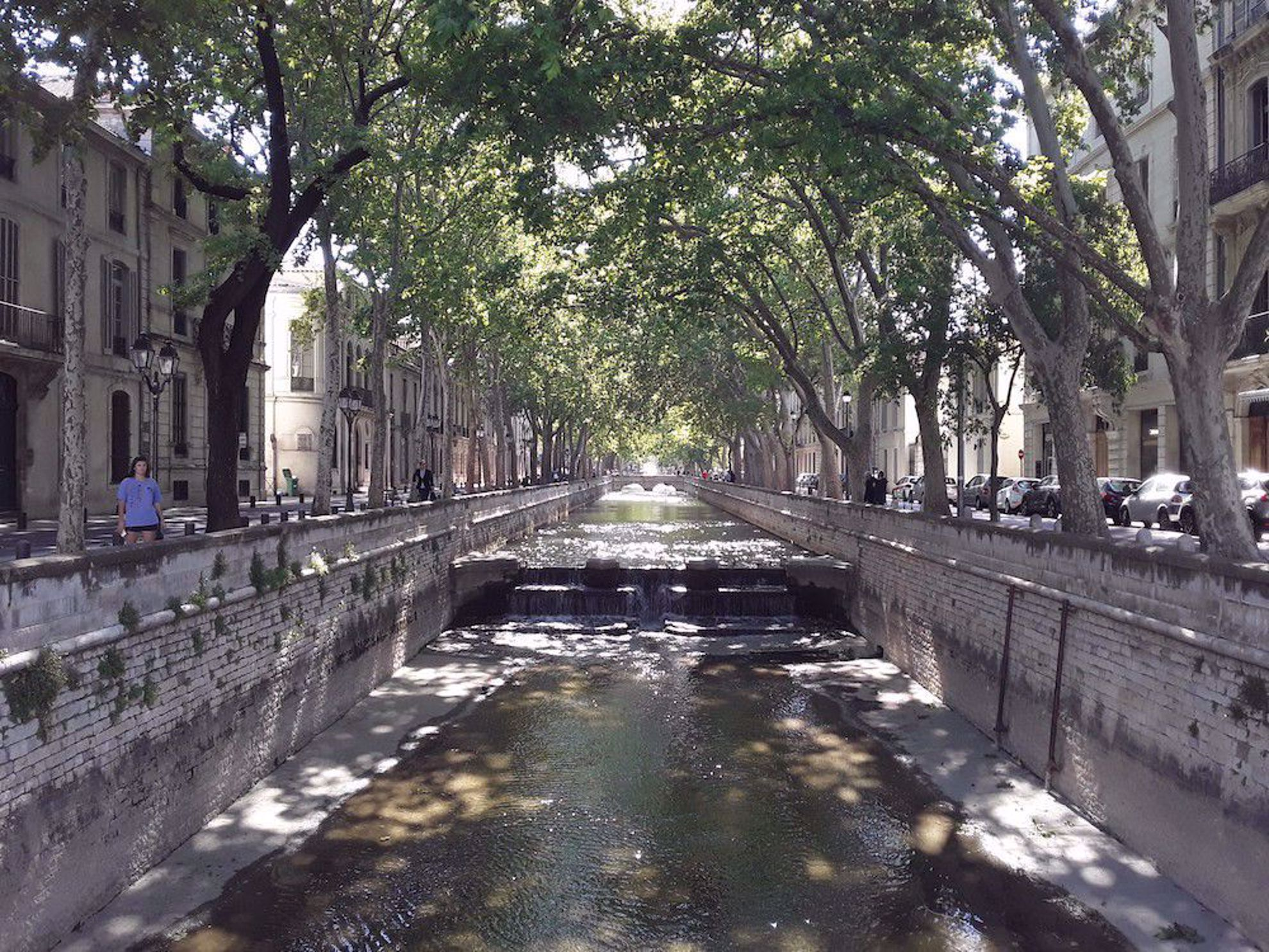 River through town Provence