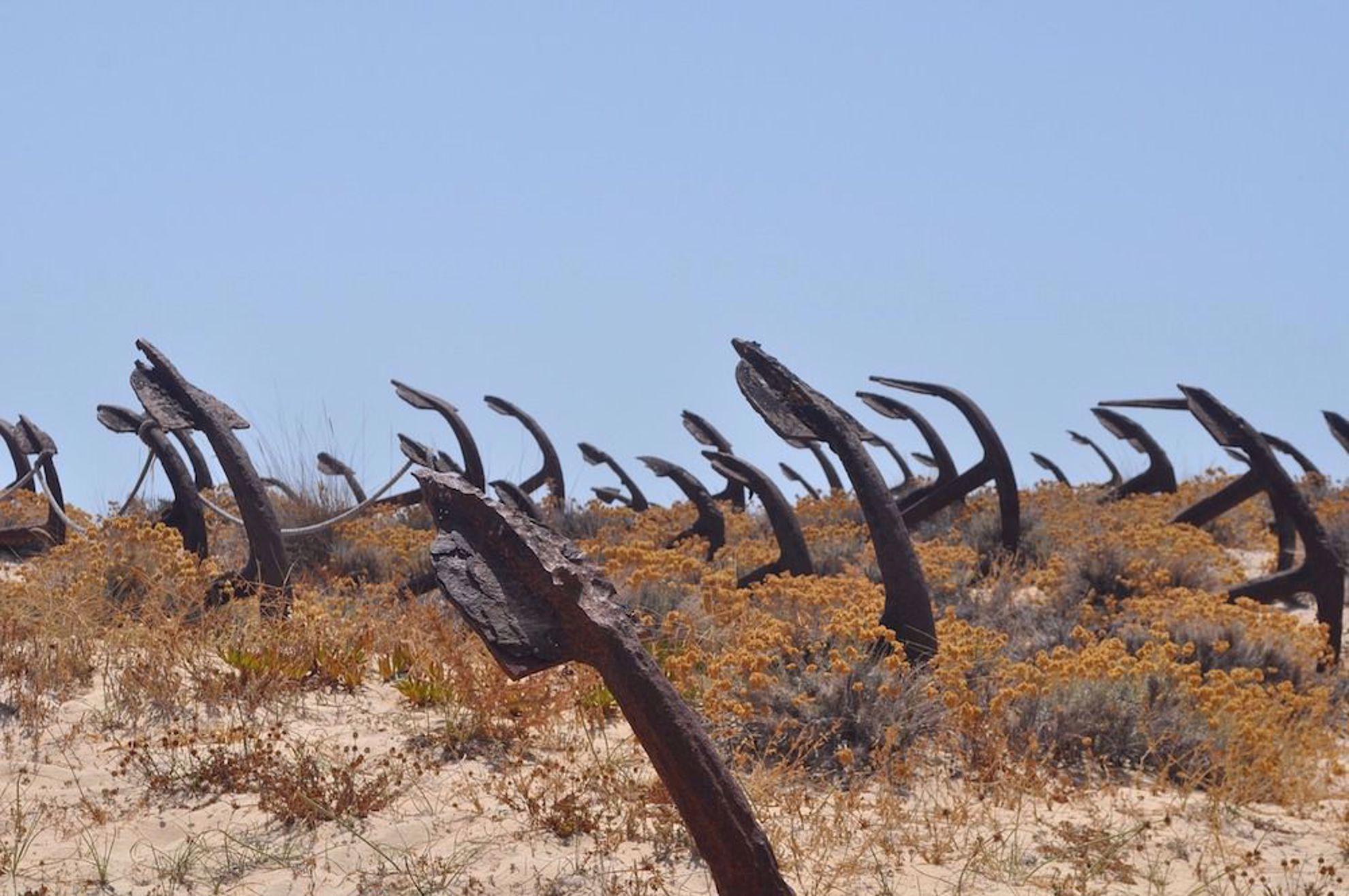 Anchor Graveyard near Tavira Portugal