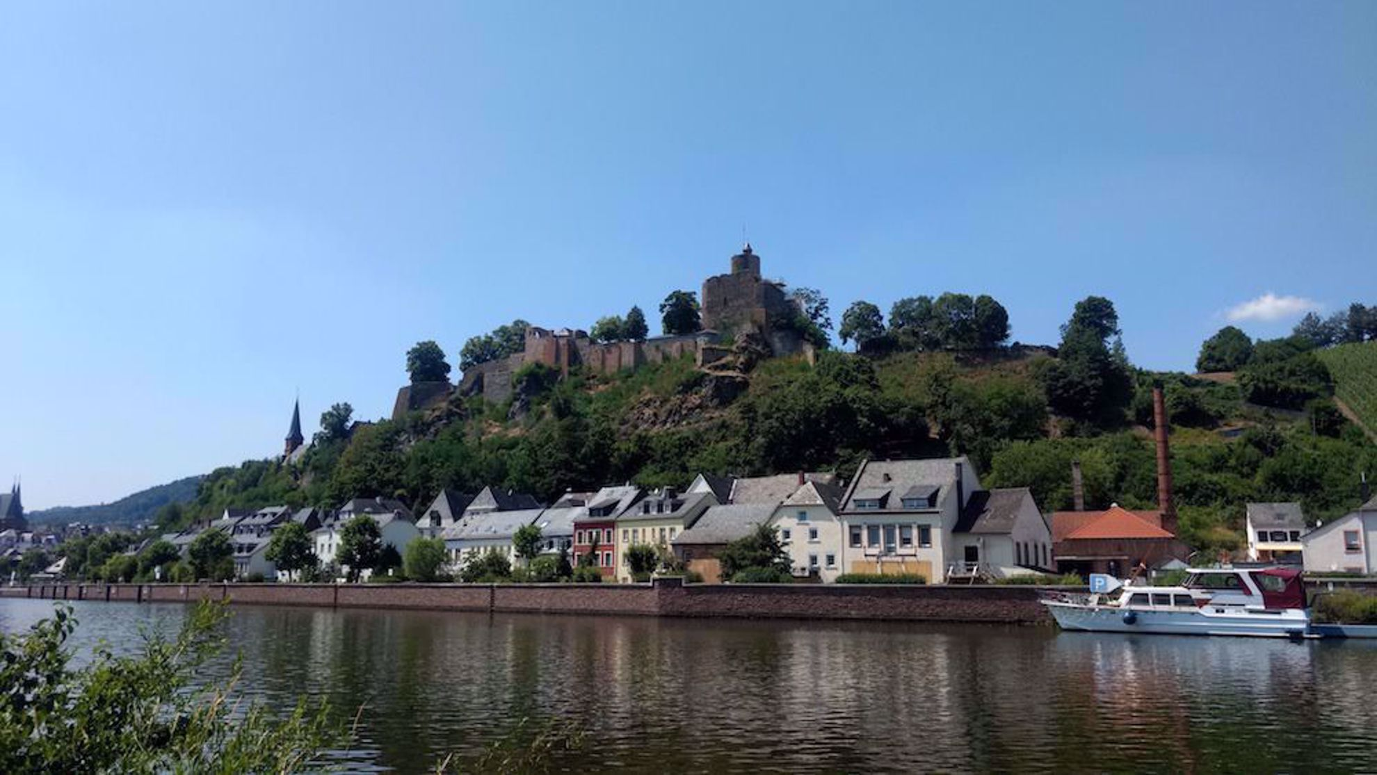 Castle above the Mosel in Germany
