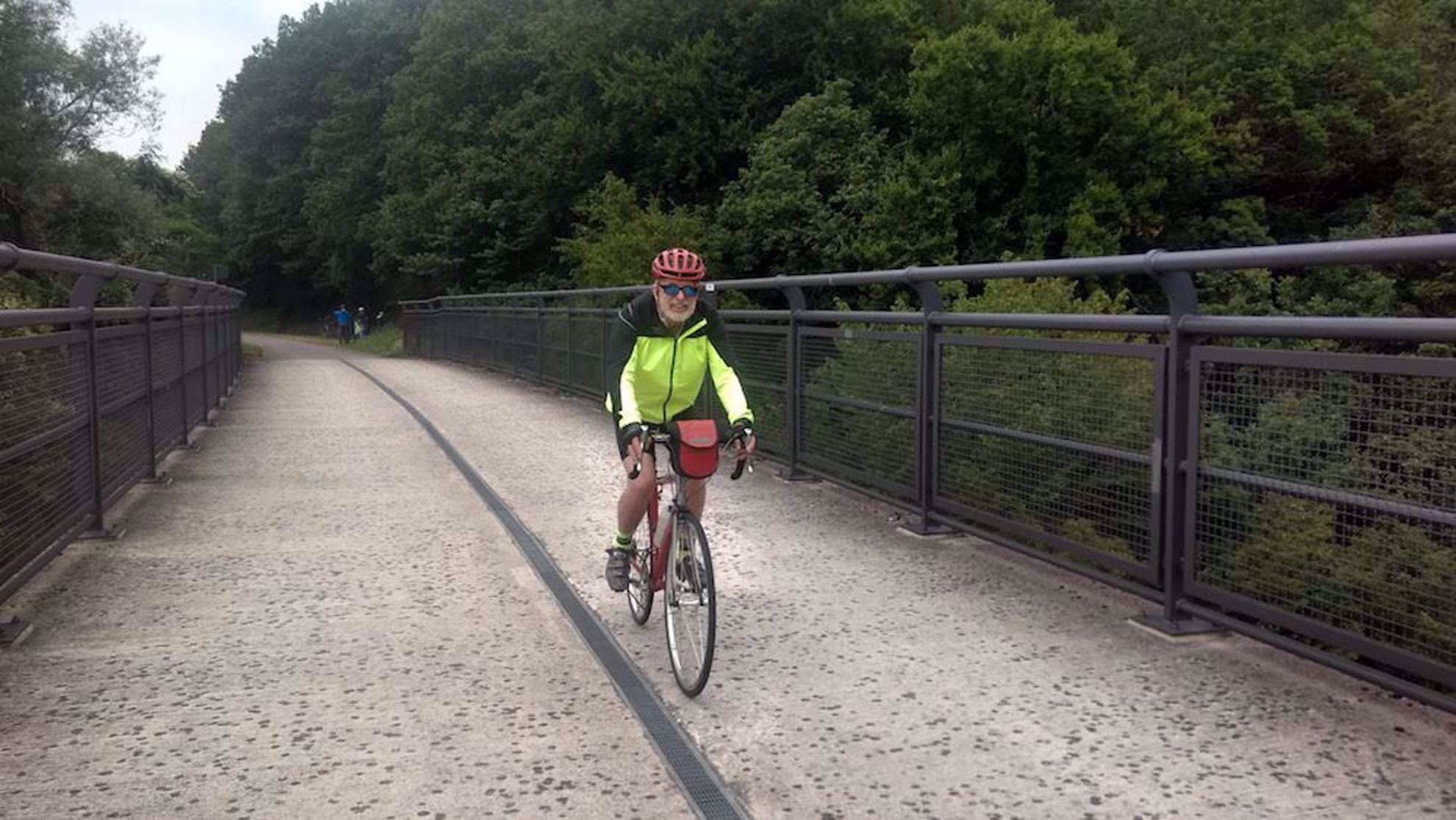 Guest riding the bike path Moselle