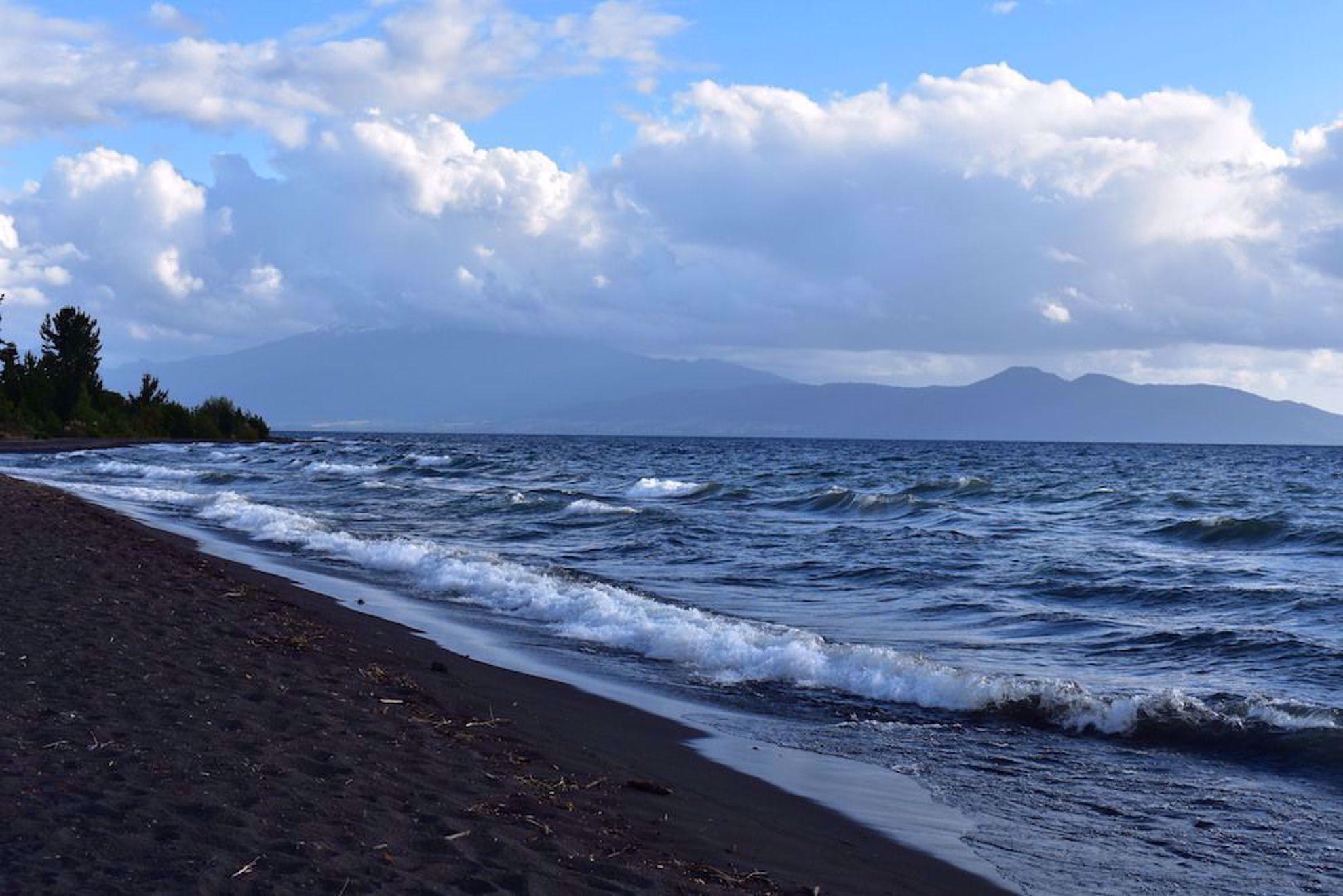 Black sand beach Chile