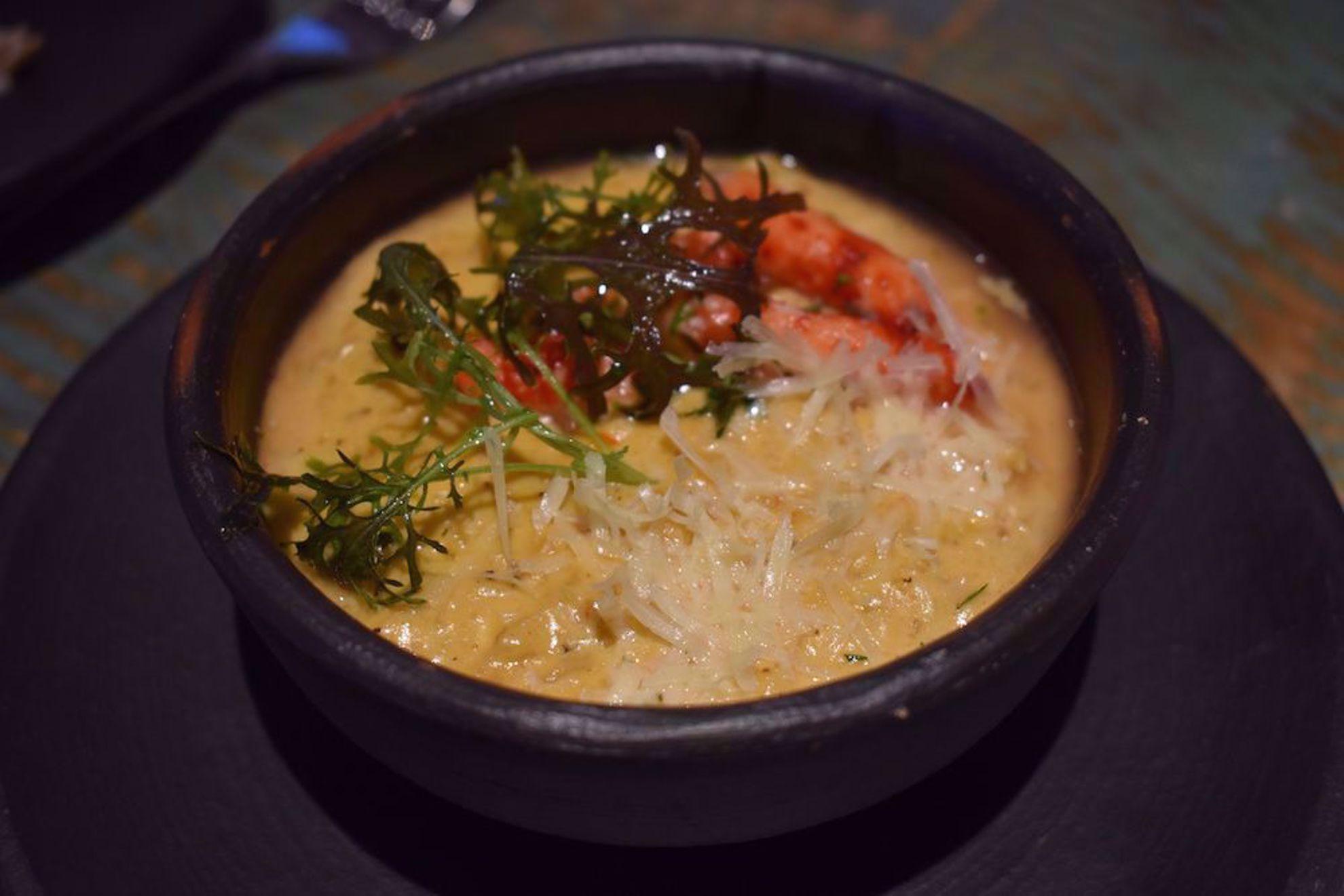 Seafood stew at Parque Futangue resort