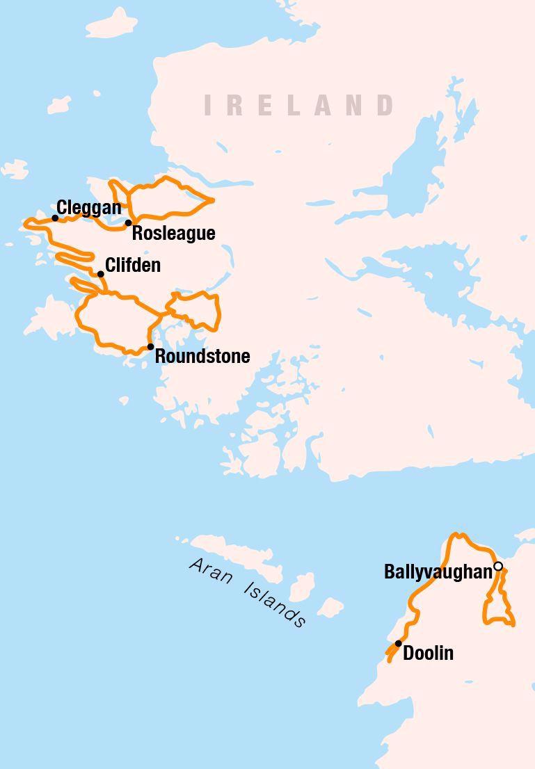 Ireland tour map