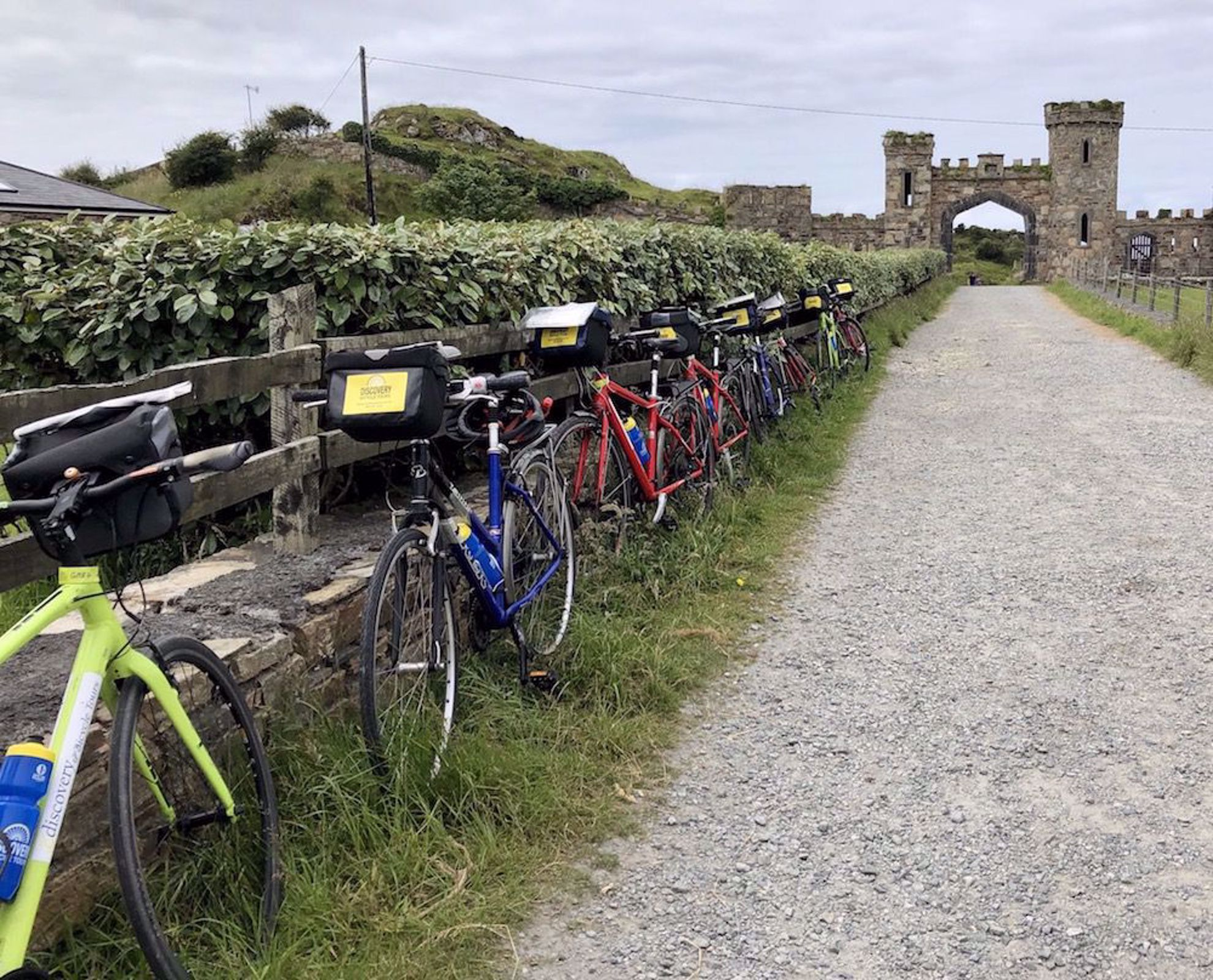 Ready to bike by ancient gate