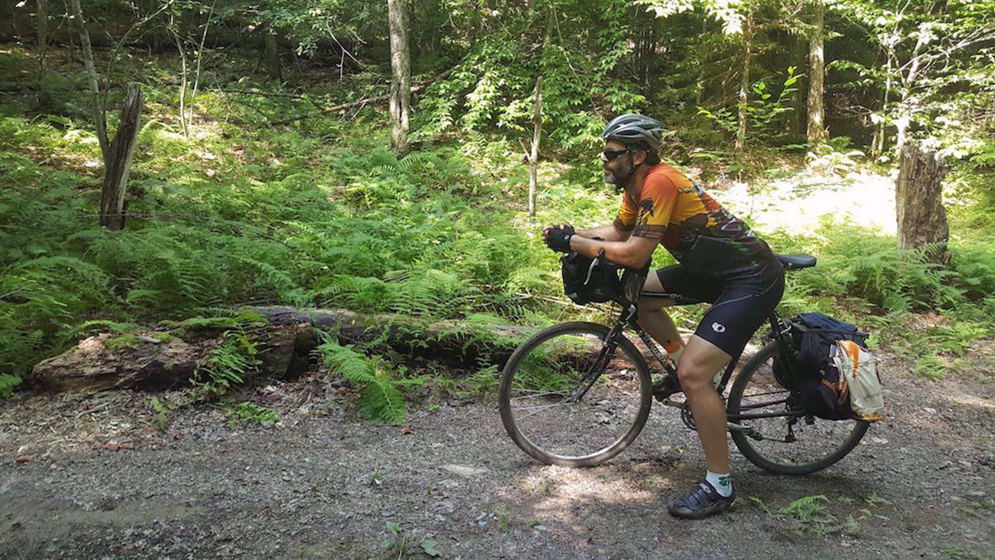 Biking the gravel