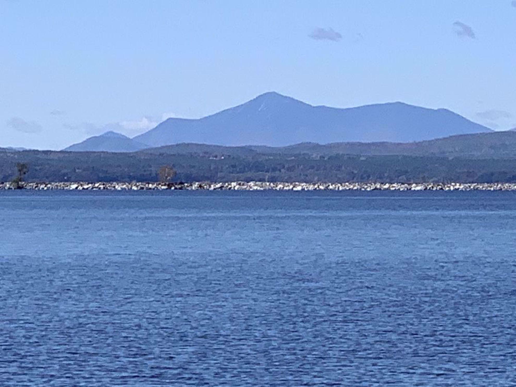 View across Lake Champlain