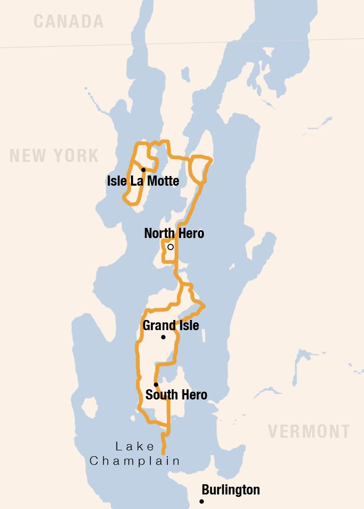 North Hero Weekend map