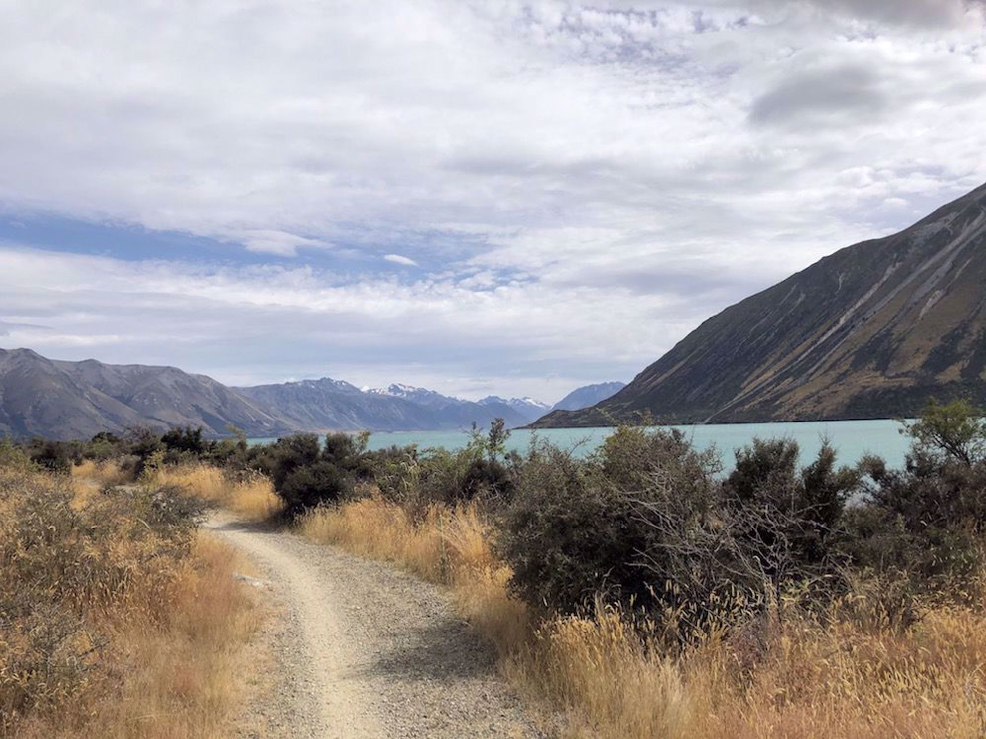 New Zealand bike trail Lake Ohau