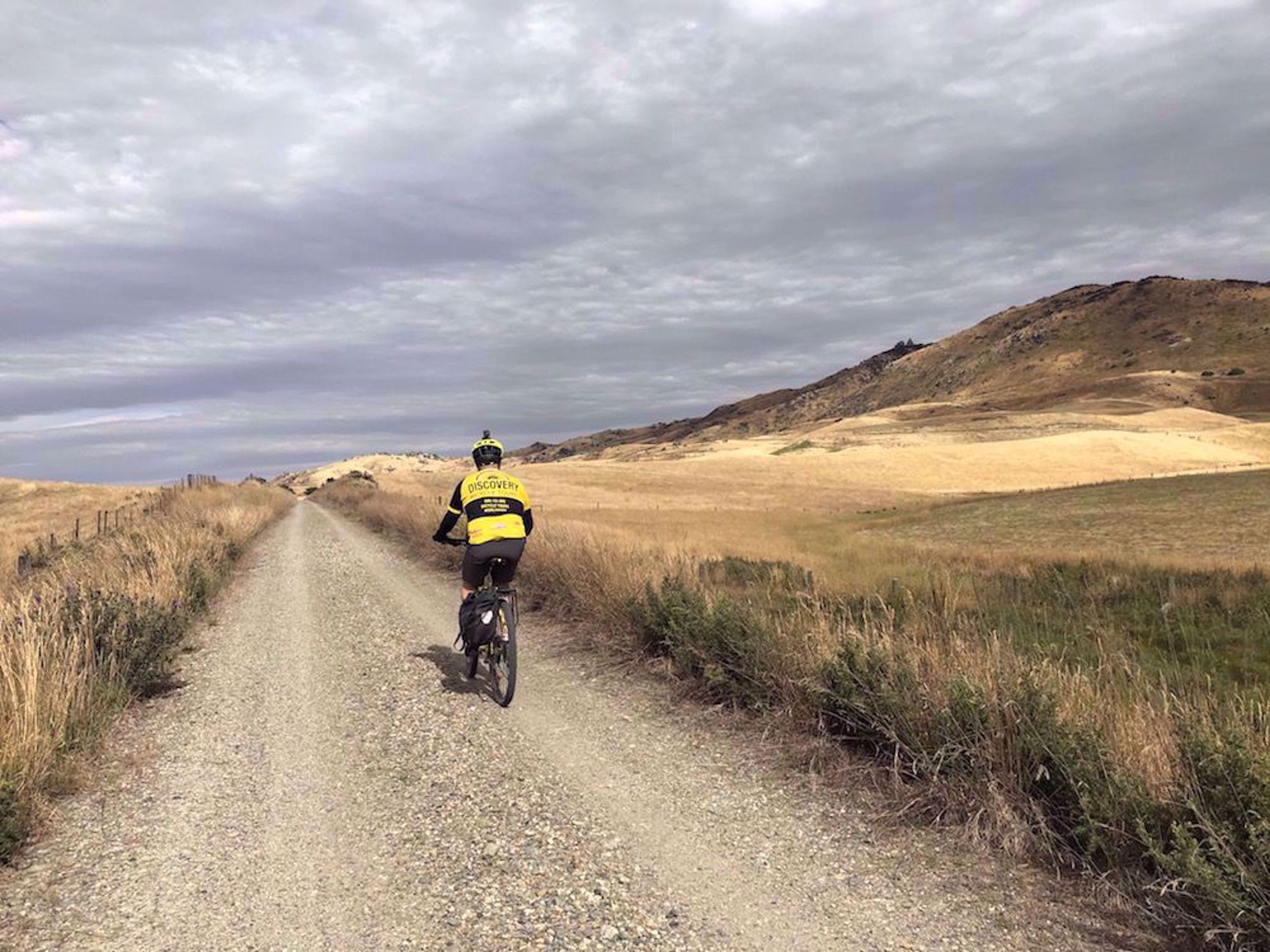Biking on Otago Central Rail Trail, New Zealand
