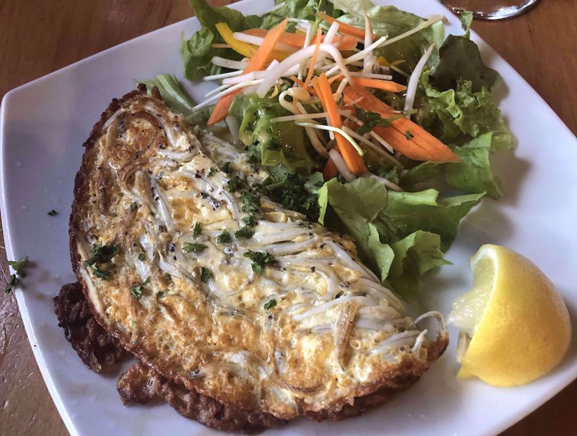 Whitebait, a New Zealand specialty