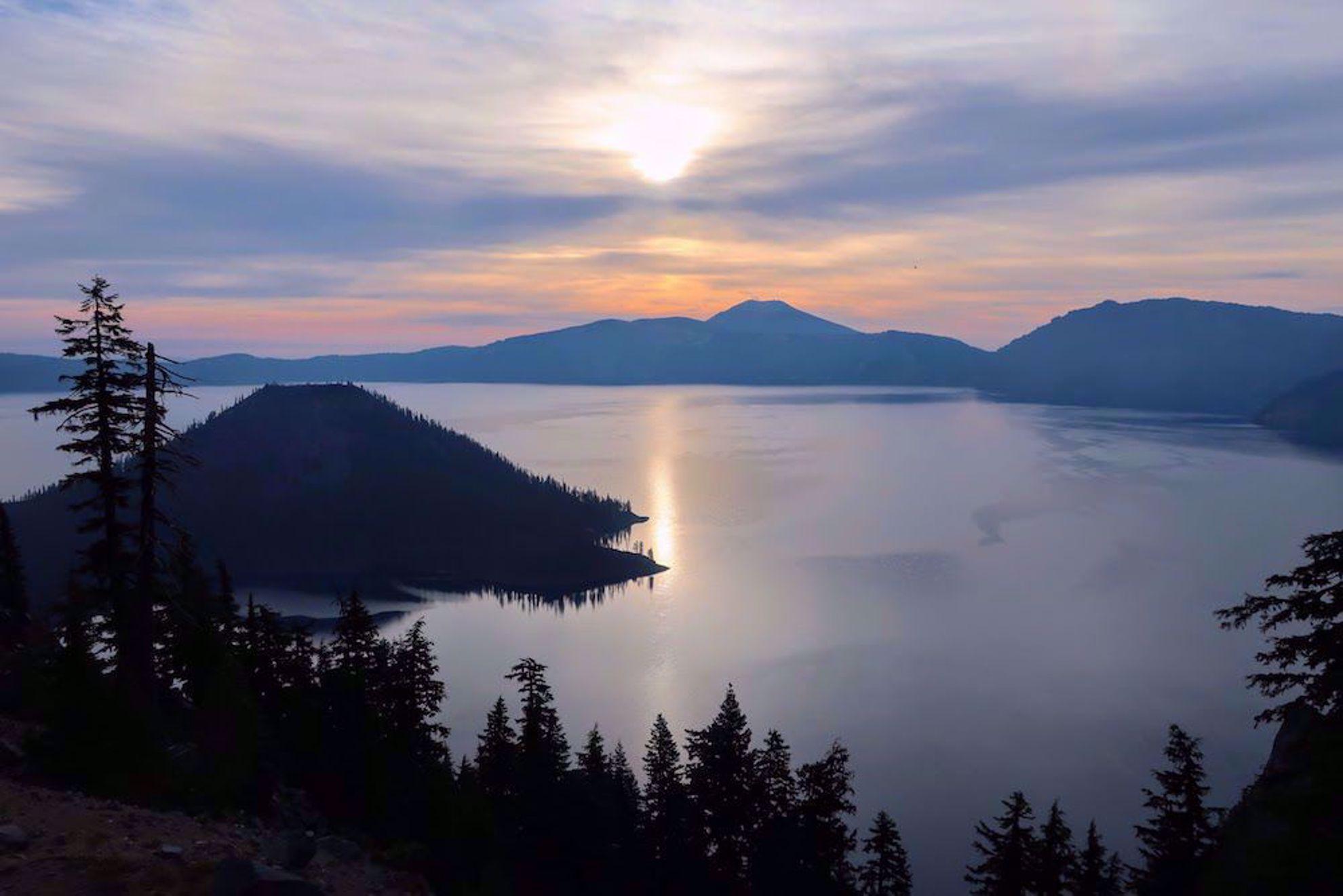 Sunrise on Crater Lake