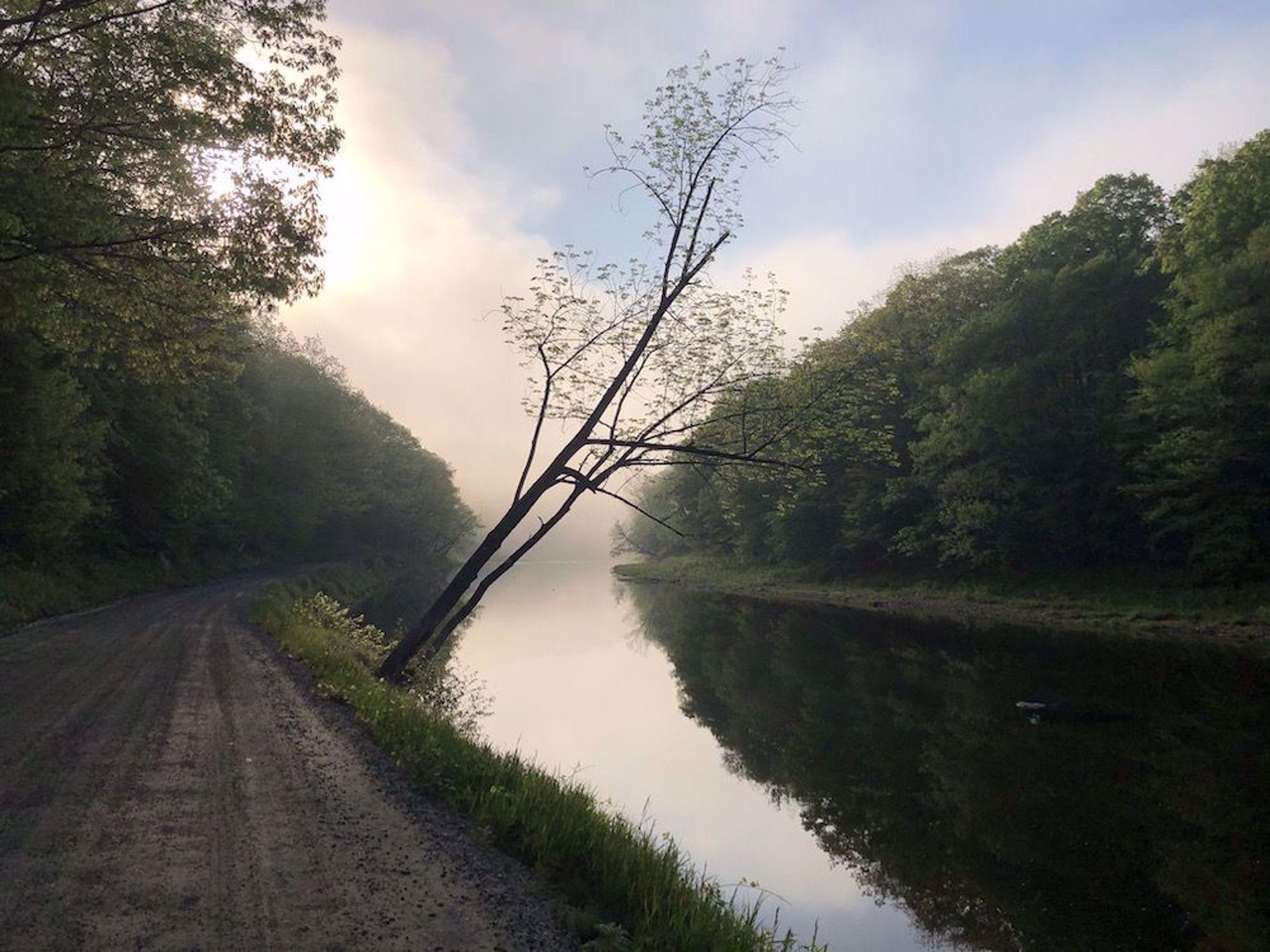 Sunrise by the Ottauquechee River, Woodstock