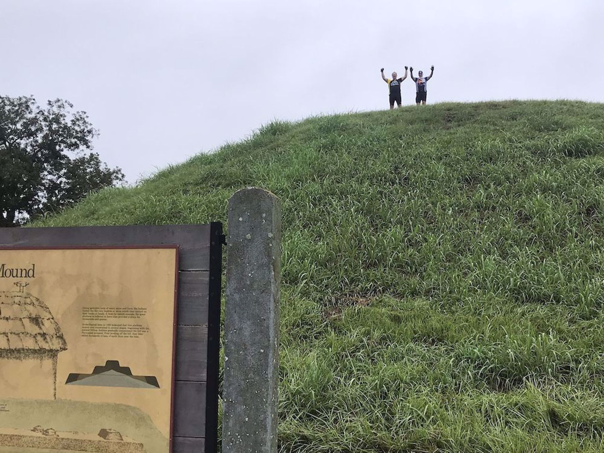 Riders on top of the Indian mound