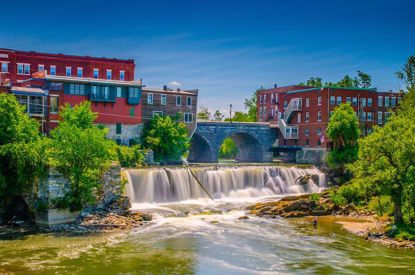 Middlebury with falls on Otter Creek
