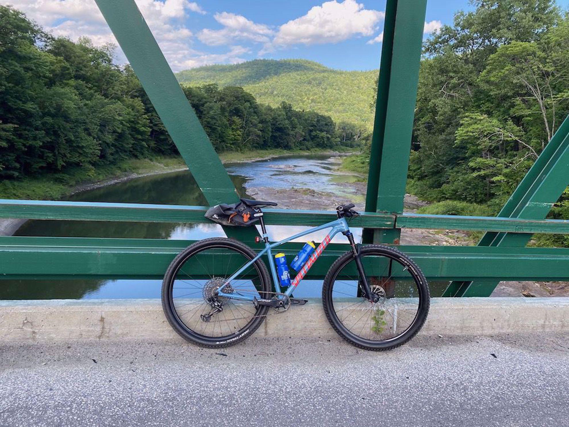 Vermont Gravel Traverse bike on bridge