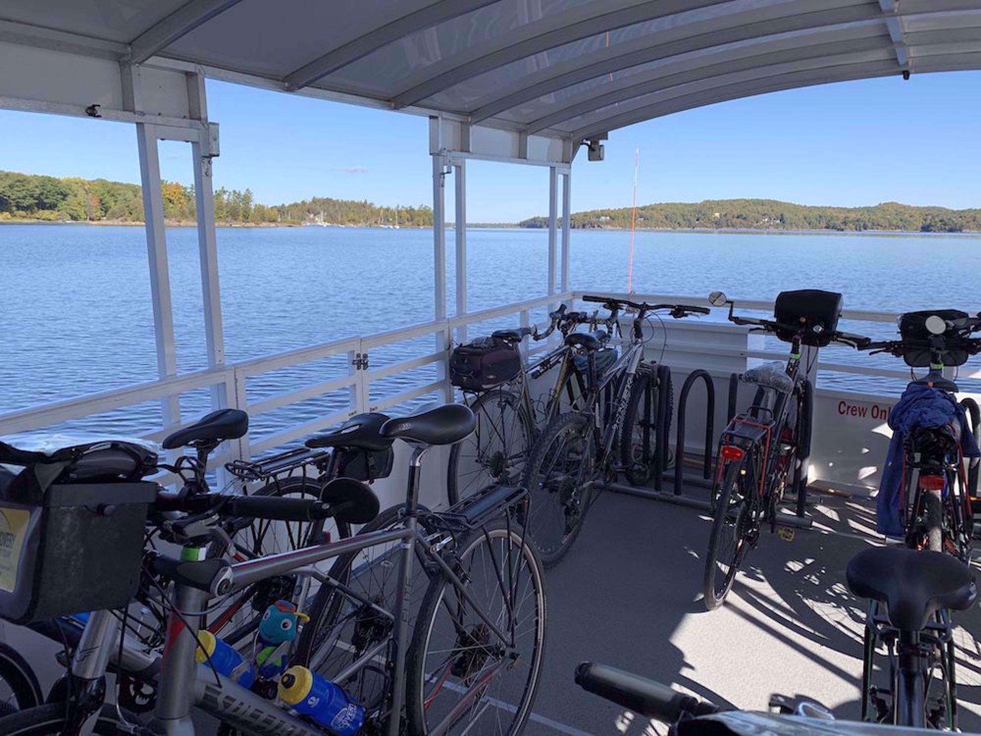 Bike ferry on Lake Champlain