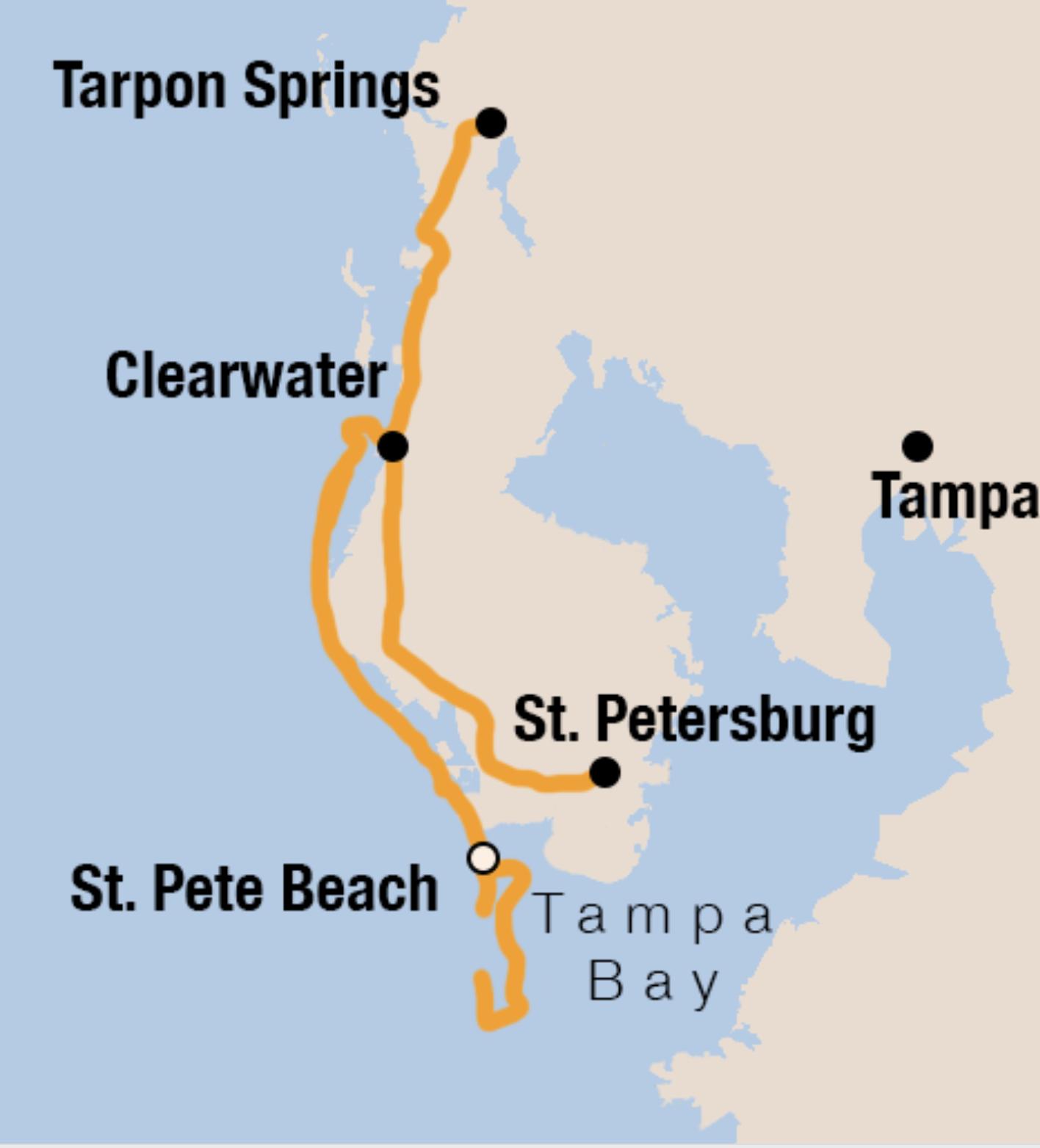 Private bike tour route